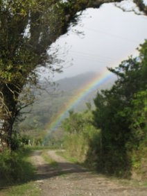 In January and February the weather is misty with lots of rainbows.