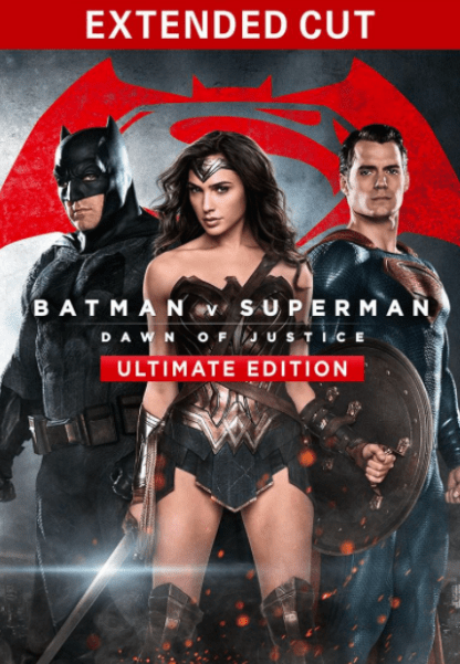 BATMAN V SUPERMAN DAWN OF JUSTICE ULTIMATE EDITION HD GOOGLE PLAY DIGITAL COPY MOVIE CODE (DIRECT INTO GOOGLE PLAY) CANADA