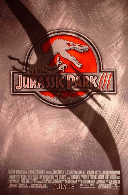 JURASSIC PARK 3 HDX MOVIES ANYWHERE (USA) / HD GOOGLE PLAY (CANADA) DIGITAL MOVIE CODE ONLY (READ DESCRIPTION FOR REDEMPTION SITE)
