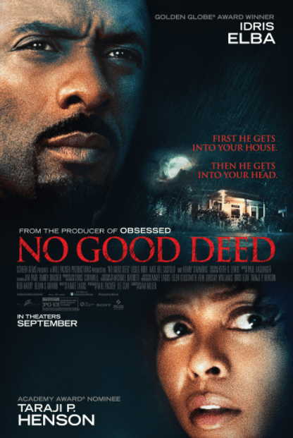 NO GOOD DEED HD GOOGLE PLAY DIGITAL COPY MOVIE CODE (DIRECT IN TO GOOGLE PLAY) CANADA