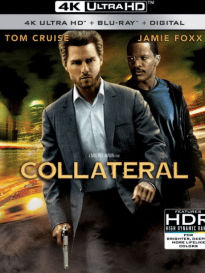 COLLATERAL 4K UHD VUDU or 4K UHD iTunes (USA) / 4K UHD iTunes (CANADA) DIGITAL COPY MOVIE CODE (READ DESCRIPTION FOR REDEMPTION SITE)