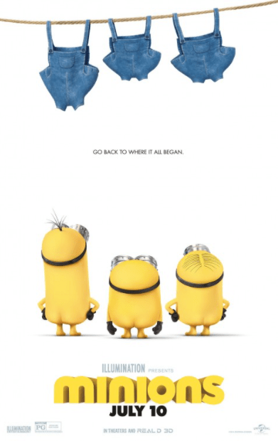 MINIONS HDX VUDU (USA) / GOOGLE PLAY (CANADA) DIGITAL MOVIE CODE ONLY (READ DESCRIPTION FOR REDEMPTION SITE)