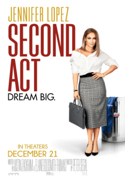 SECOND ACT HD iTunes DIGITAL COPY MOVIE CODE (DIRECT IN TO ITUNES) USA