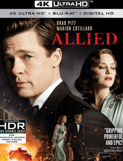 ALLIED 4K UHD iTunes DIGITAL COPY MOVIE CODE (DIRECT IN TO ITUNES) USA CANADA