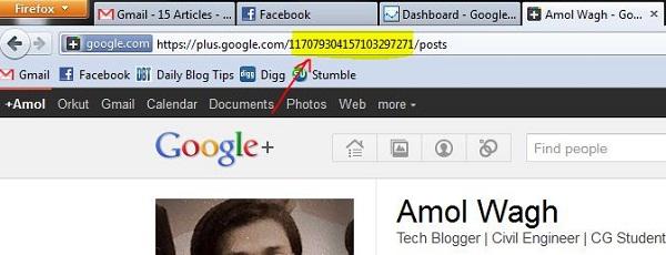 Google+ Shortening Name