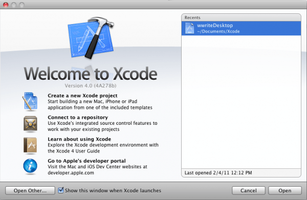 Xcode 4- Image Mac OS X development