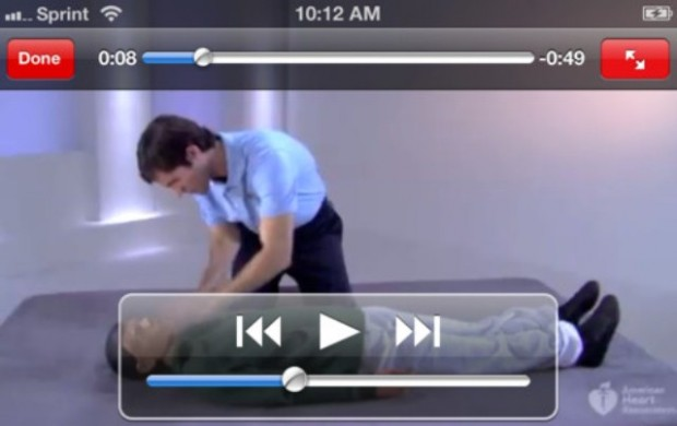 Basic First Aid and CPR app for iPhone
