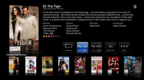 Apple TV - India iTunes Store