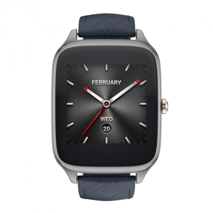 ASUS ZenWatch 2 (WI501Q)_Gunmetal + Leather strap