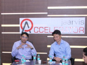 Mr. Jaspal Sarai,COO, Jaarvis and Mr. Gabriel Fong,CEO, Jaarvis while addressing to the media