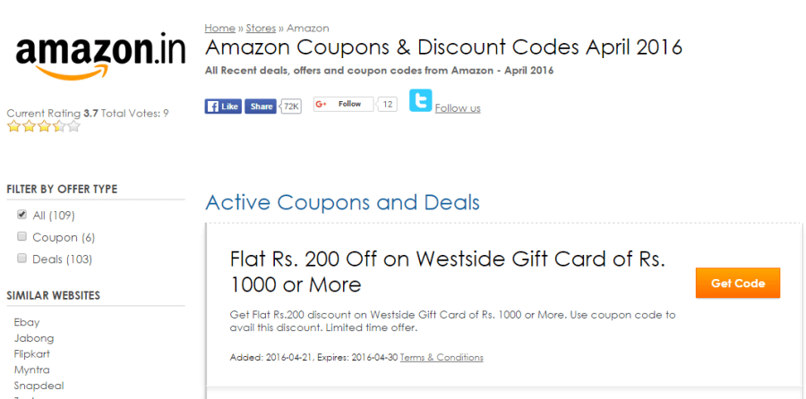 Amazon Coupons & Discount Codes - Coupon Rovers