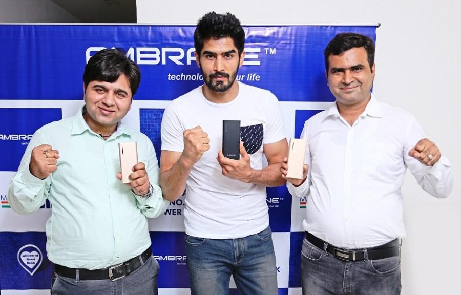From Left Mr. Gaurav Dureja(Managing Director), Vijender Singh, Ashok Rajpal ( Managing Director).