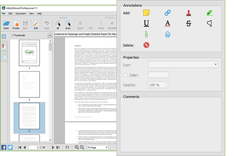 Annotate PDF Files - Able2Extract Professional 11