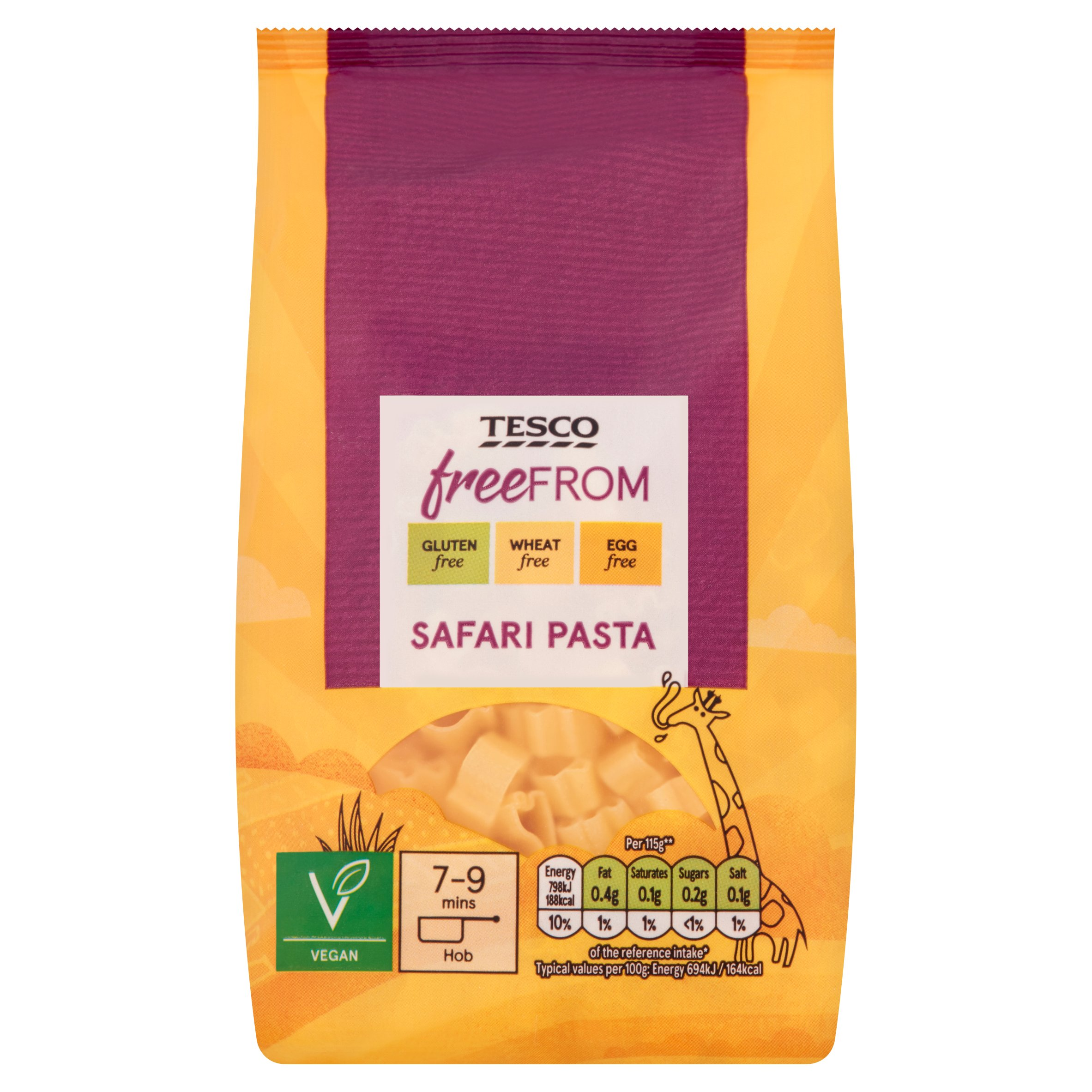 Tesco Free From Safari Pasta 250G