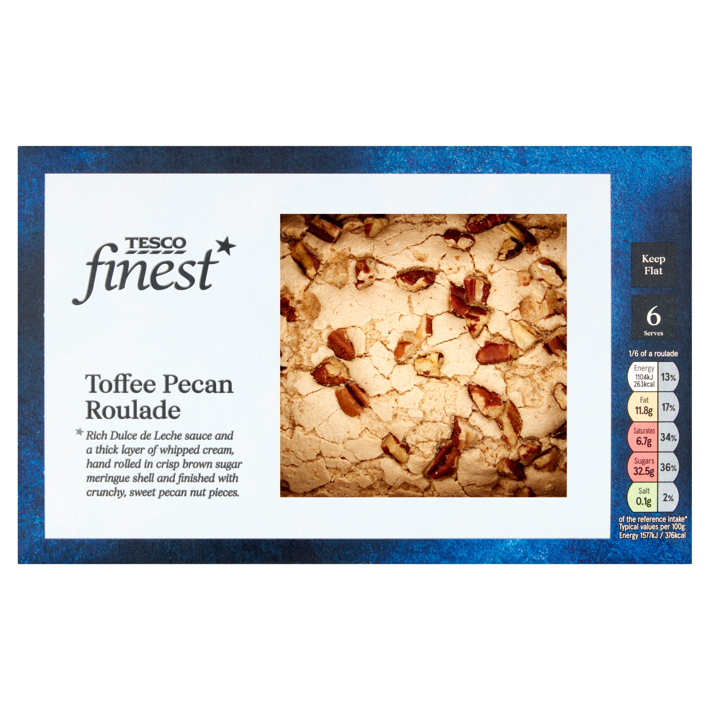 Tesco Finest Toffee Pecan Roulade 420G