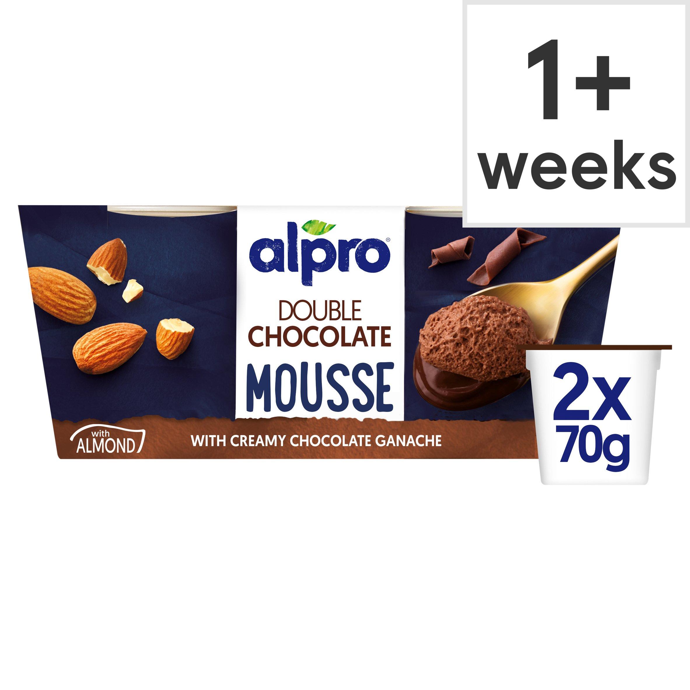 image 1 of Alpro Double Choc Mousse Dessert 2X70g