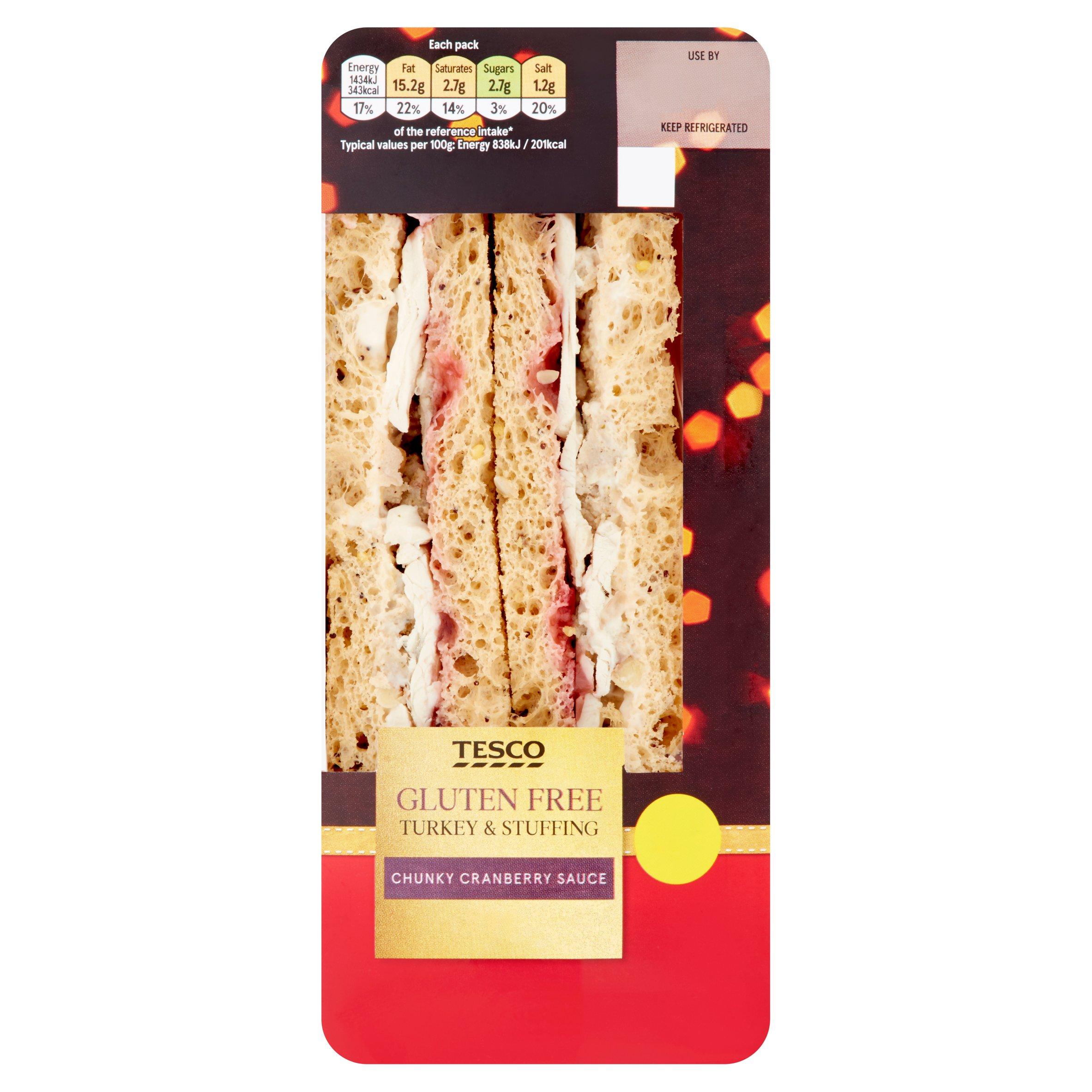 Tesco Gluten Free Turkey & Trimmings Sandwich