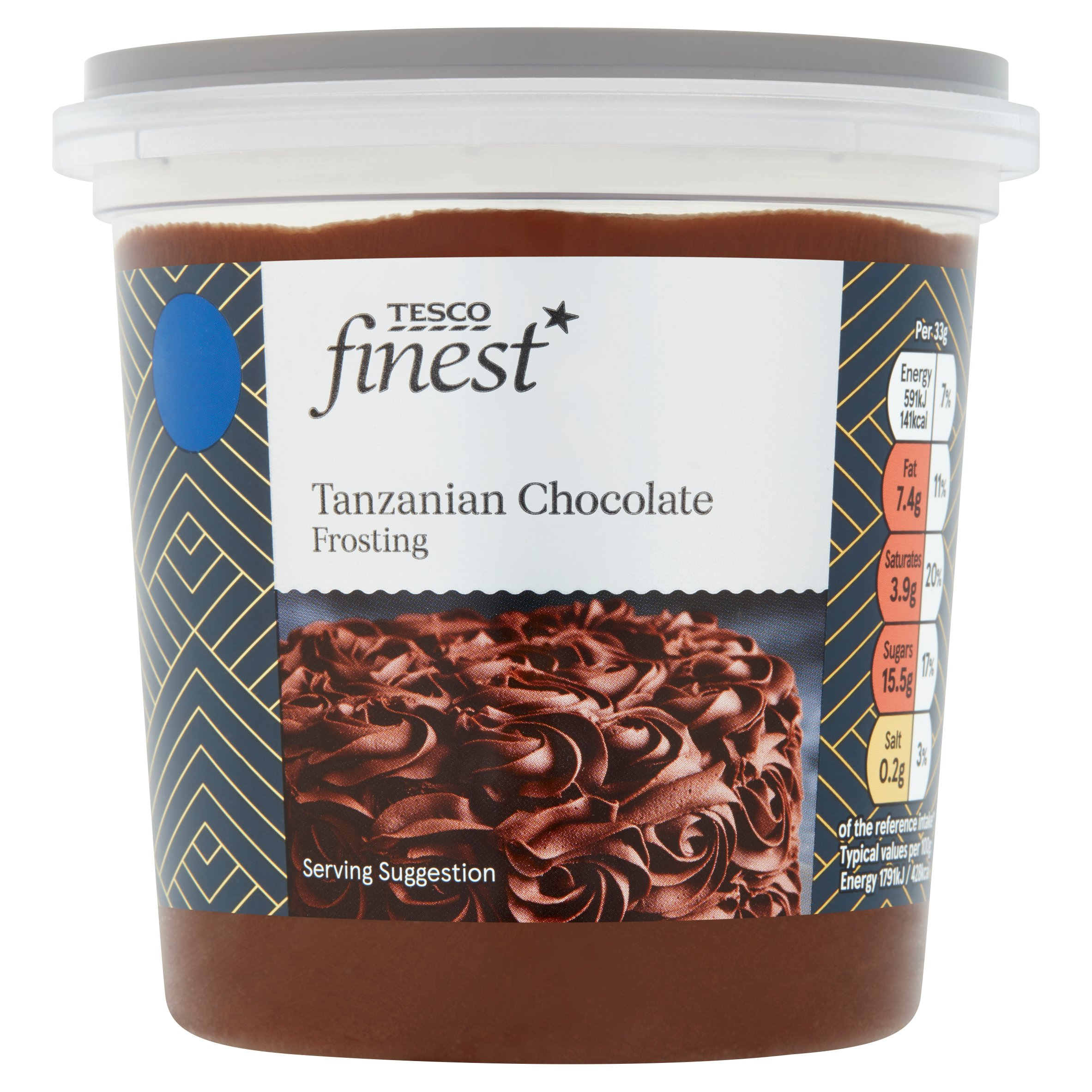Tesco Finest Tanzanian Chocolate Frosting 400G