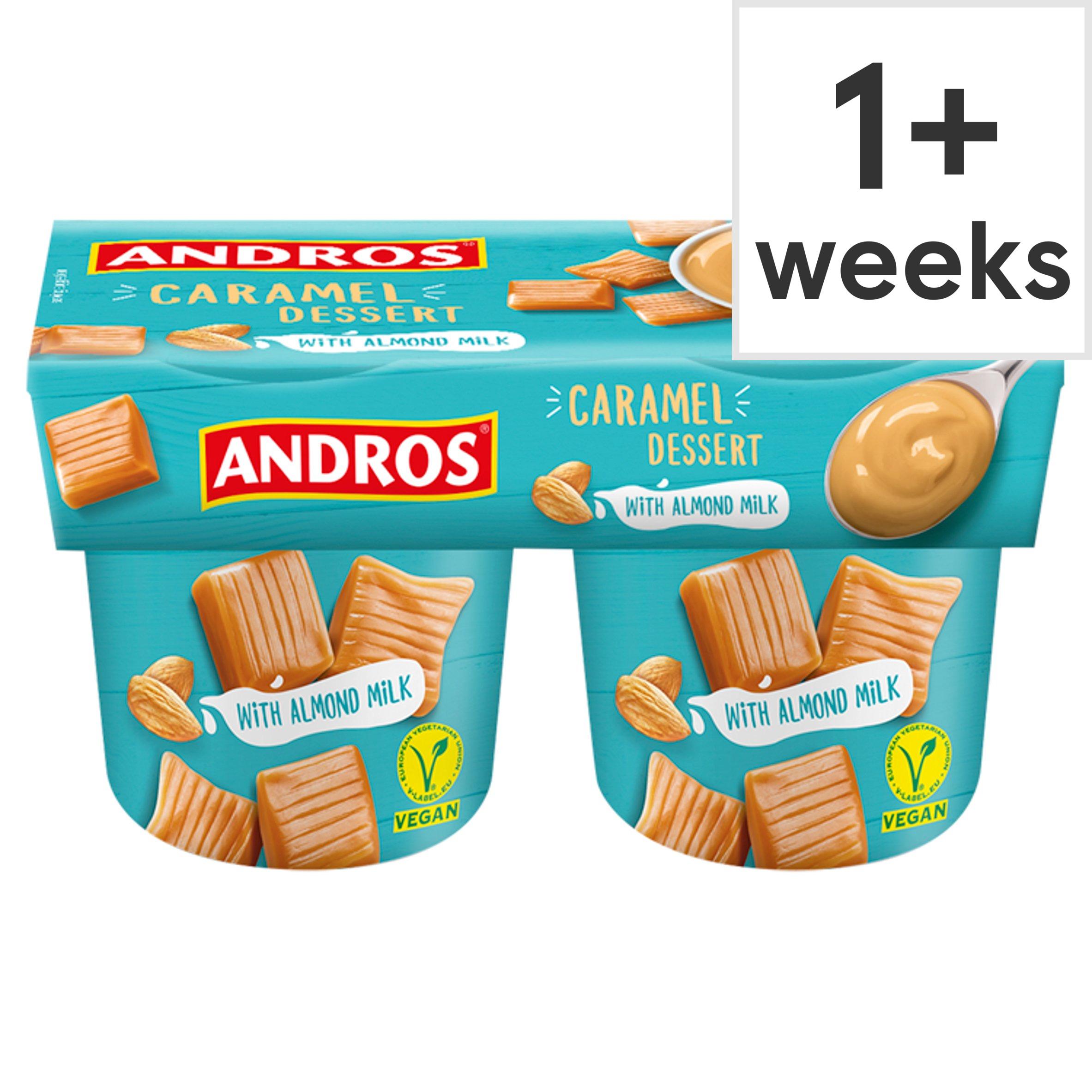 Andros Caramel Dessert With Almond Milk 2 X 120G
