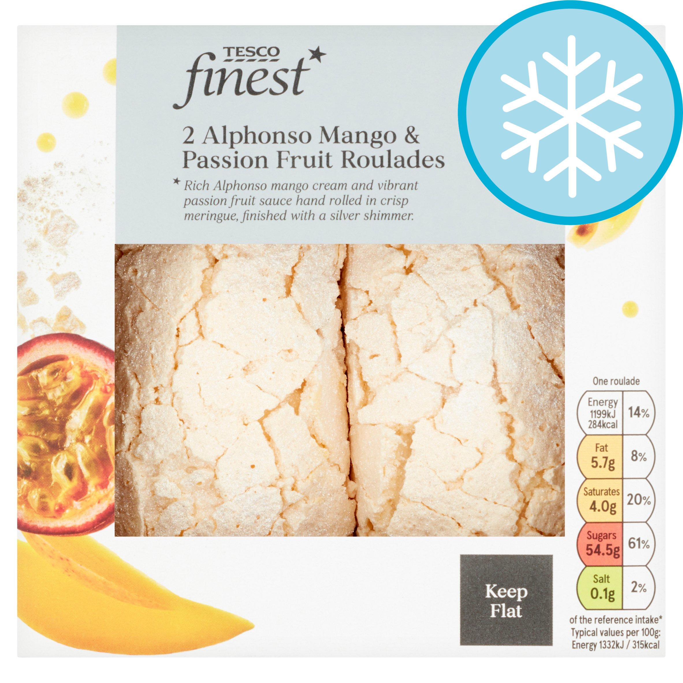Tesco Finest Mango Passion Fruit Roulades 2X90g