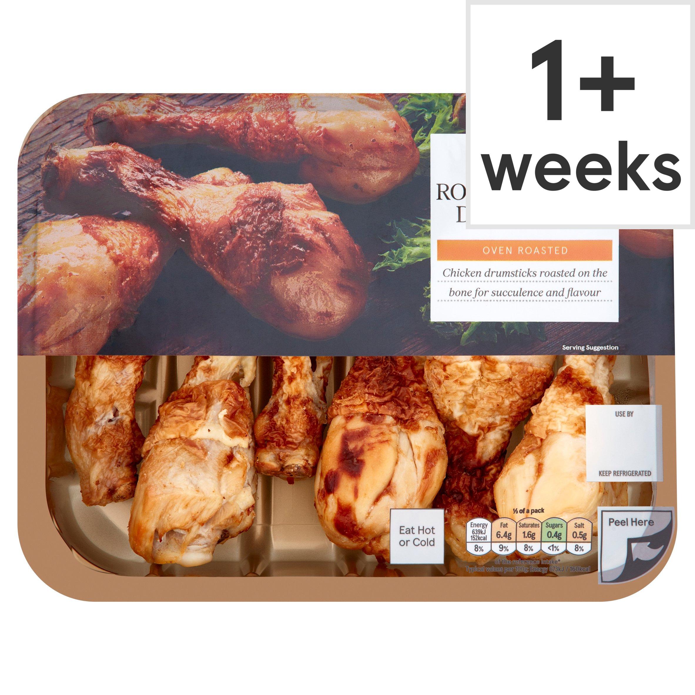 Tesco British Ready To Eat Roast Chicken Drumsticks 430G