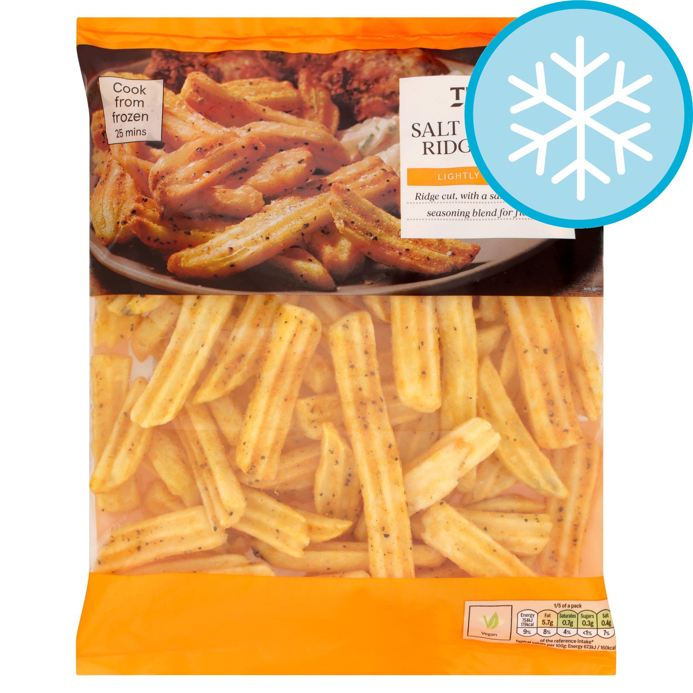 Tesco Salt & Pepper Ridge Chips 750G