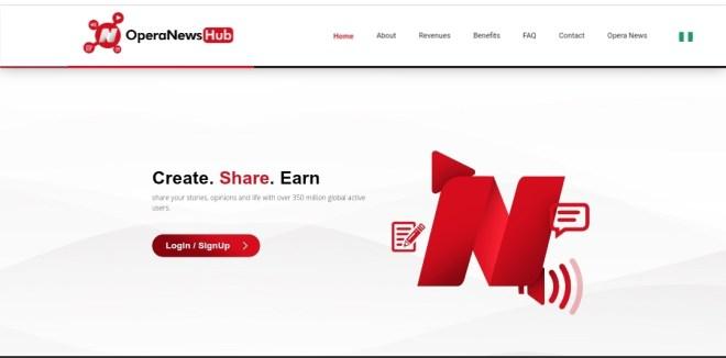 Make money with opera news hub