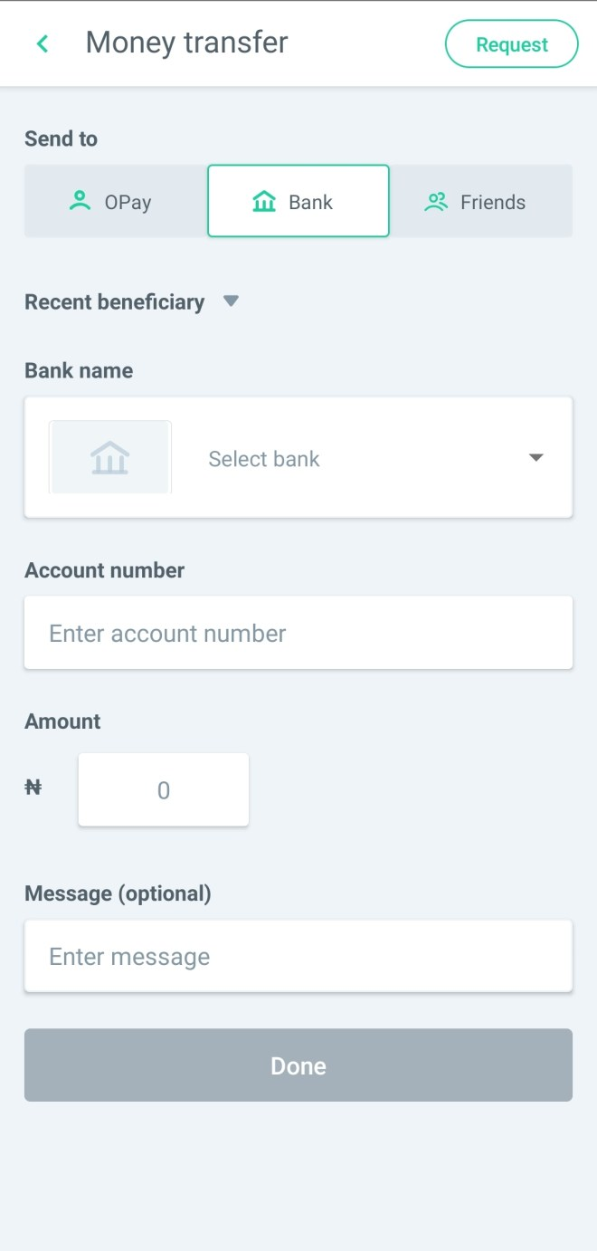 Withdraw money from Opay account