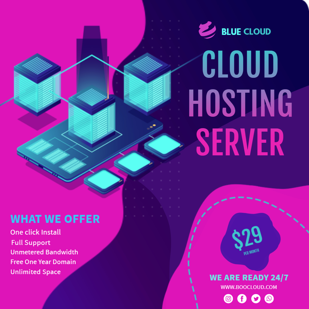 Copy of Cloud housing server Instagram post - Made with PosterMyWall