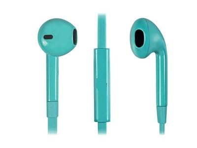 OEM stereo earphones τιρκουαζ