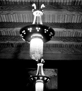 Decorative Lights hanging inside the Tadschikische Teestube