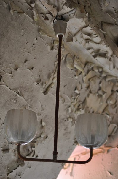 an old light fixture left in a clinic