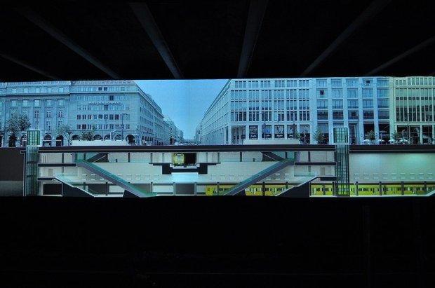 3D Modell des neuen U5 U-Bahnhofs Unter den Linden