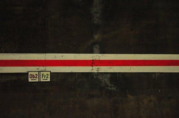 u-bahn tunnel markierungen