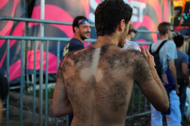 A Dick Shaved into a Mans Back Hair
