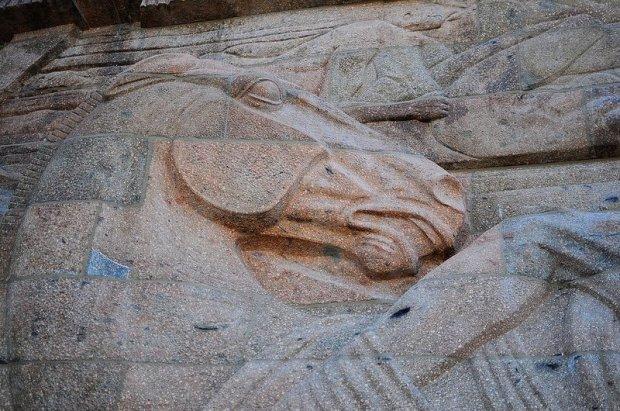 Relief of a Horse on the Völkerschlachtdenkmal in Leipzig