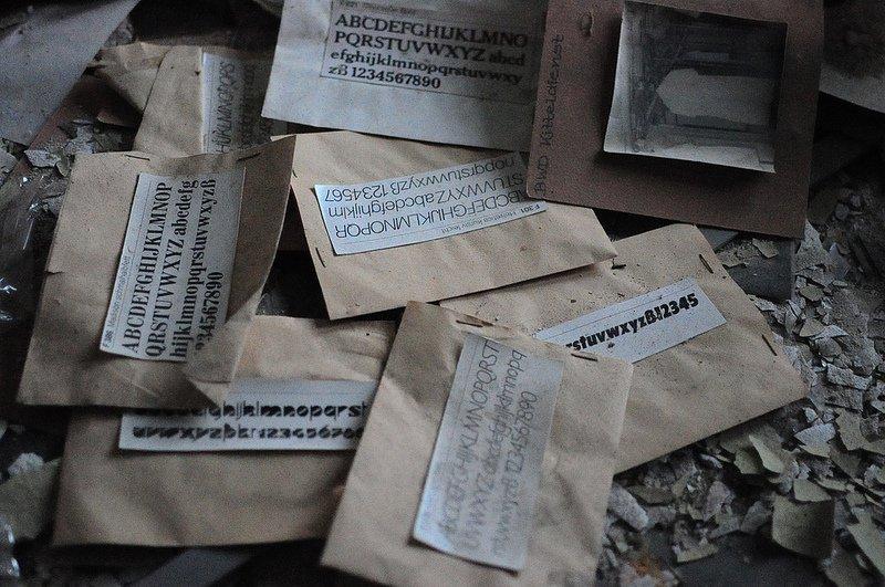 abandoned letter fonts