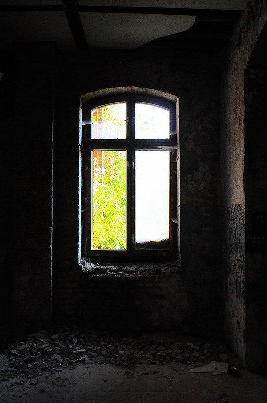 crumbling walls and window