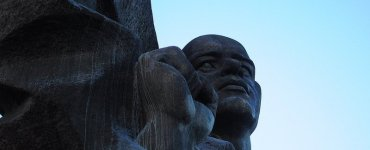 Close up of the Ernst Thälmann Denkmal in Berlin, Germany