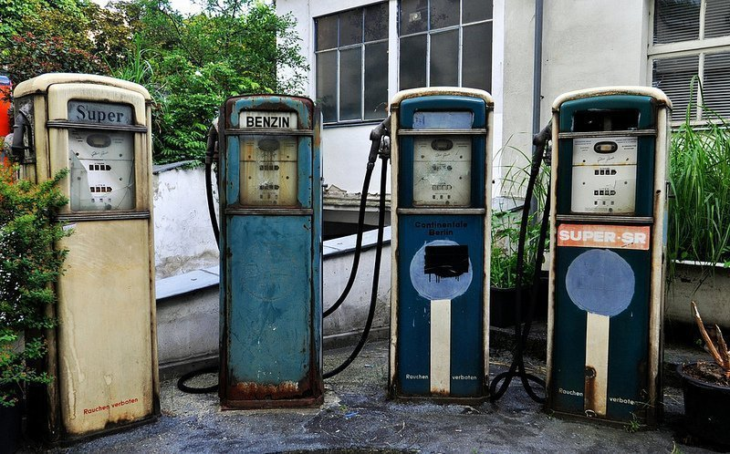 abandoned 1920s gas pumps berlin germany