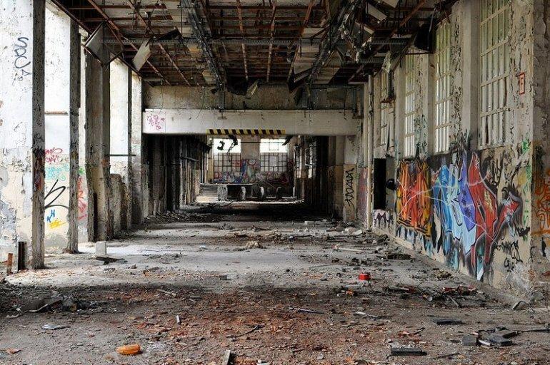 abandoned factory hallway koepenick