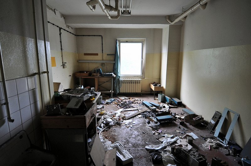 abandoned photo labratory room