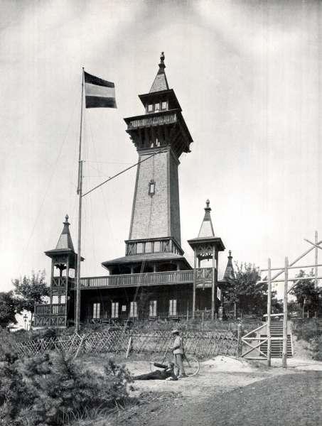 The historic Müggelturm around 1900