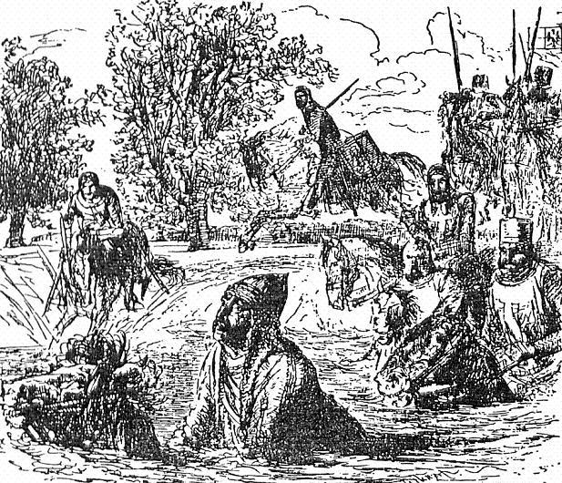 Jaczo von Köpenick auf der Flucht durch die Havel