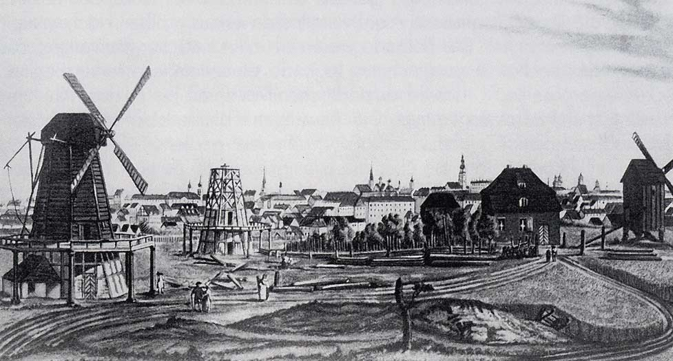 Windmuehlenberg in Prenzlauer Berg around1800
