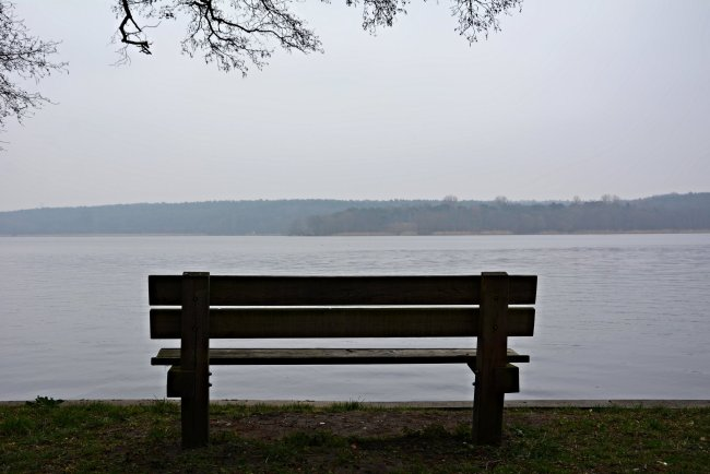 bench havel river germany