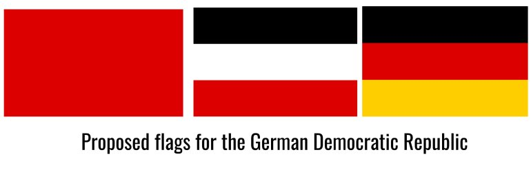 proposed flags for the GDR