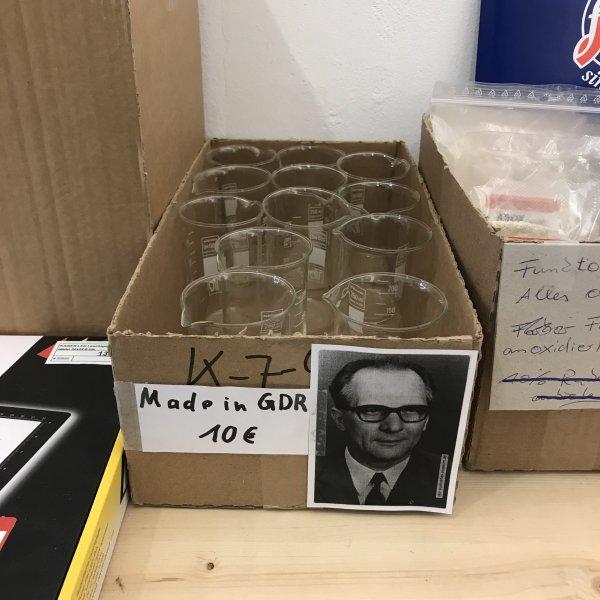 fotoimpex berlin alte schoenhauser str DDR glas erich honecker beaker