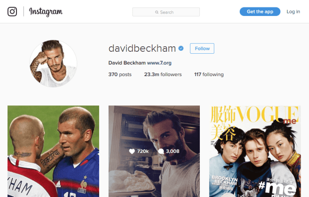 Reji Stephenson David Beckham