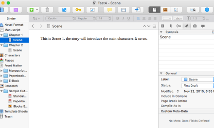 Scrivener Basics: Interface